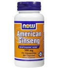 NOW Foods American Ginseng 500 mg Caps, 100 ct (Pack of 2)