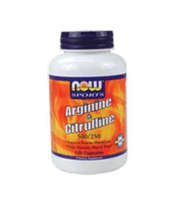 Now Foods Arginine & Citrulline 500/250 - 120 Capsules ( Multi-Pack)