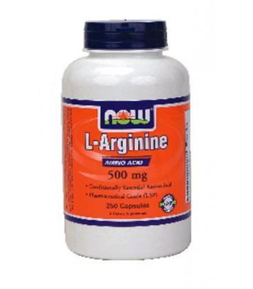 Now Foods Arginine 500mg, 250 caps ( Multi-Pack)