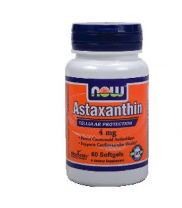 Now Foods Astaxanthin, 60 softgels / 4mg ( Multi-Pack)