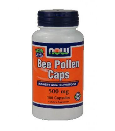 Now Foods Bee Pollen, 100 caps / 500mg ( Multi-Pack)