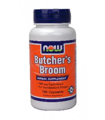 Now Foods Butchers Broom, 100 caps / 500mg ( Multi-Pack)