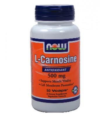 Now Foods Carnosine 500mg, 50 caps ( Multi-Pack)