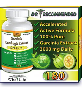 WiseLifeNaturals Fat Burner & contrôle total de l'appétit, Number One Weight Loss Formula, Dr recommandés, 180 Caps, avec Pu