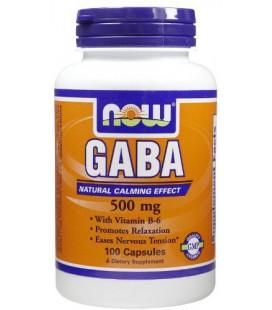 NOW Foods GABA 500 mg, 100 capsules ( Multi-Pack)