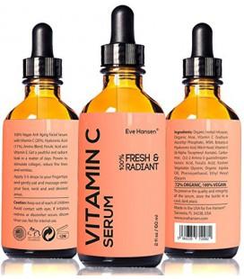 2 oz Vitamine C Sérum - Facelift dans un numéro de la bouteille 1 - 100% Vegan Anti Aging Facial Serum - VOIR RÉSULTATS OU REMBO