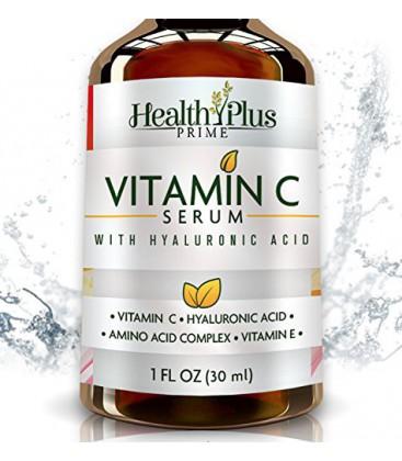 Anti-Aging Vitamine C Sérum pour le visage avec de l'acide hyaluronique