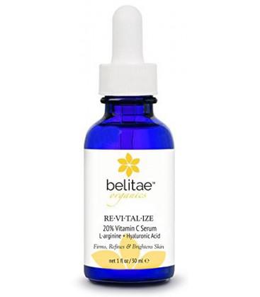 Belitae - Bio Vitamine C Sérum pour le visage avec de l'acide hyaluronique + 20% de C 30 ml - Aide de réparation Sun Damage, les