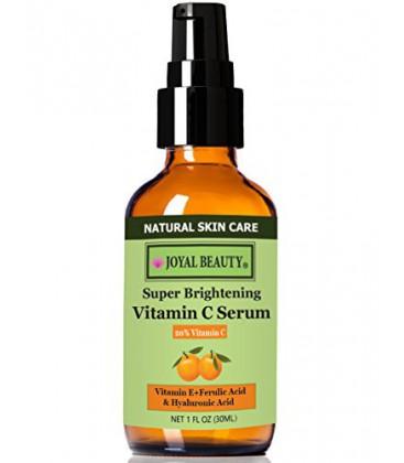 Nombre 1 Top The Best Organic vitamine C Serum 20% pour le visage par Joyal de beauté. Avec Acide Hyaluronique 11% + férulique