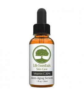 Vitamine C Sérum Visage 20% - Acide Hyaluronique - Rides Anti - Anti Aging Serum - Fades taches sombres - Réparations peau - Bio