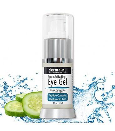 Wrinkle Eye Cream Par Derma-nu - Anti Aging Eye Treatment Gel pour les cernes, les poches et les rides - Peptide de collagène