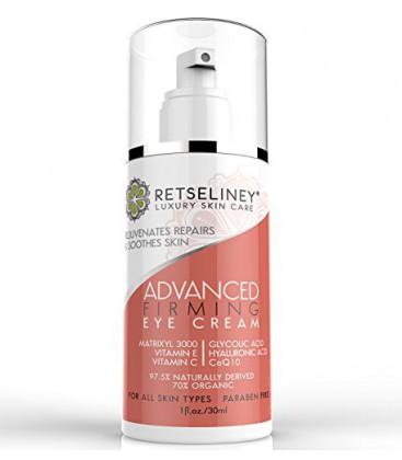 Retseliney Eye Crème raffermissante pour les cernes, les poches, les rides et sacs, Organic & Natural, Meilleur Anti Aging R