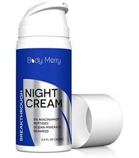 Anti Aging Crème de nuit Hydratant avec 5% Niacinamide + Meilleur naturels et biologiques Ingrédients comme Acide Hyaluronique +