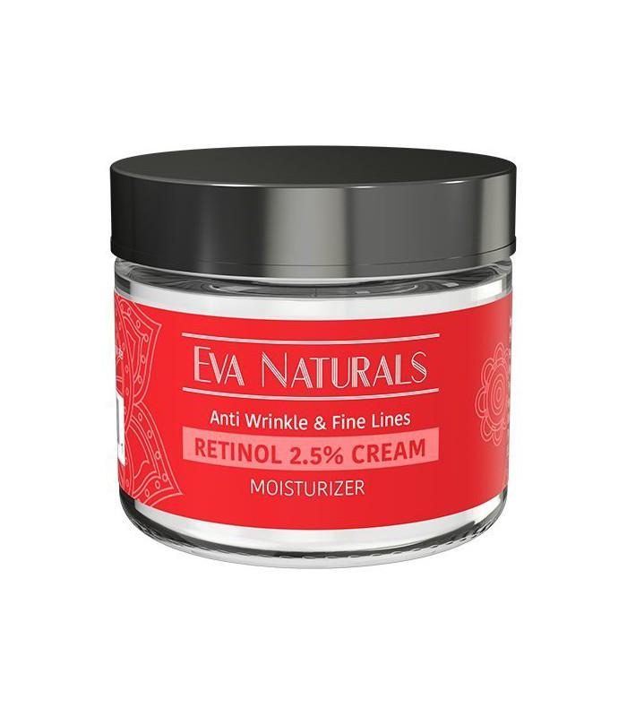 Rétinol Crème Hydratant 2,5% par Eva Naturals (2 oz)