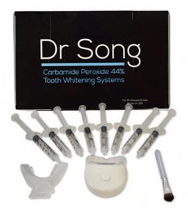 Dr Chanson Accueil Teeth Kit de blanchiment, 8 XL Seringue avec Lumière, Plateau et Gel Applicator