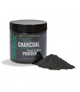 Blanchiment Natural Tooth & Gum Powder avec du charbon actif, 2,75 oz - Spearmint Flavor (Prime)