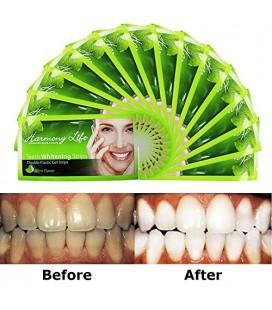 Harmony vie Blanchiment des dents Strips 6% HP Professional Strength, Advanced Elastic Gel Double Strips Whitestrips Pro personn