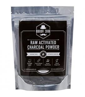 Charbon activé poudre par Moody Zook - Premium Food Grade brut en vrac carbone de noix de coco bio - plus efficace que Hardwood