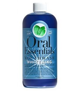 Essentials Oral Blanchiment des dents Mouthwash 16 Oz. Pour une utilisation quotidienne Sans Sensibilité Pas de peroxyde d'hydro