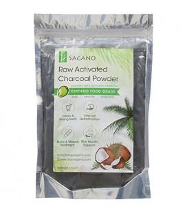 Meilleur charbon activé en poudre par Sagano - Premium Food Grade Bulk Raw Coconut Carbon - plus efficace que Hardwood