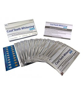 Dents blanchissant cool Zéro Peroxyde Strips pour les dents et les gencives sensibles Whitener Band Kit 28 Pcs 14 Traitements 2