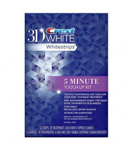 Crest 3D White Protection anti-taches 5 minute Dents Touch-Ups bandes blanchissantes, 56 Count