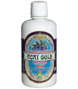 Dynamic Health Acai Gold- 100% Pure Organic Certified Acai Juice, 32-Ounce Bottle