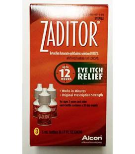 Zaditor Antihistamine Eye Itch Relief Drops, flacon de 5 ml 3 Count