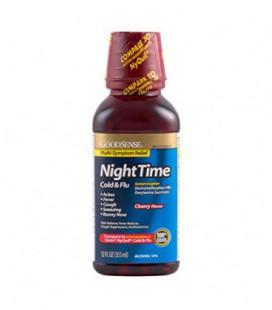 Goodsense Nighttime Rhume et grippe secours liquide, la saveur de cerise, 12 Fluid Ounce