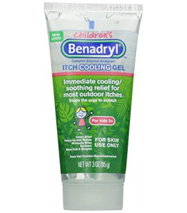 Benadryl, Anti-Itch Gel de refroidissement pour les enfants, 3 Ounce (Pack de 2)