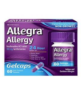 Allegra Allergie 24 heures Gelcaps, 60 Count