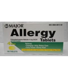 Major Pharmaceuticals chlorphéniramine 4 mg comprimés, 100 Count