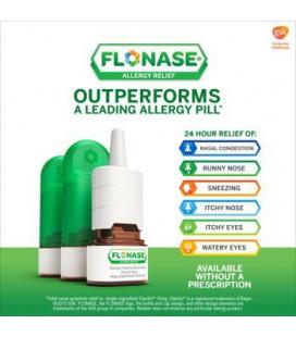 Flonase Allergy Relief Spray Nasal, 120 Count Paquet de 3, Flonase-wr