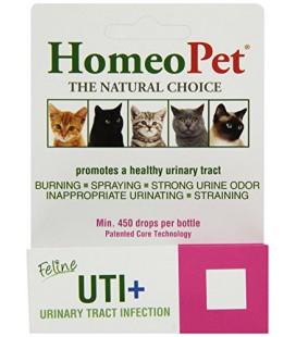 HomeoPet UTI plus Infection des voies urinaires pour chats, 15ml