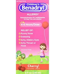 Benadryl Allergy enfants, Cerise Flavored Liquid 8 fl oz (Pack de 2)
