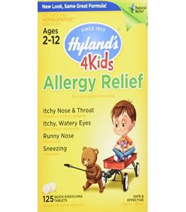 4 enfants naturels Allergie Relief Comprimés, naturel Soulagement symptomatique de Hyland des allergies d'intérieur et d'extérie