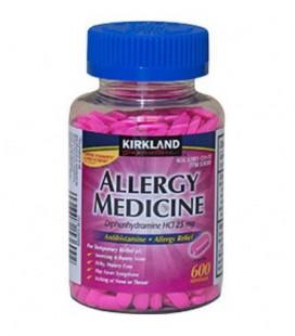 Diphenhydramine HCI 25 Mg - Kirkland Marque - Allergie Médecine et AntihistamineCompare à Active Ingredient de Benadryl®