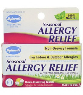 Naturelles saisonniers Allergie Relief comprimés, non-Drowsy Indoor & Outdoor Allergy Relief, 60 comte de Hyland