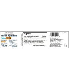 Cétirizine comprimés 10 mg OTC Par Paquet Pharmaceuticals 100CT [Santé et beauté]