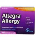 Allegra Adulte 24 heures Allergie Comprimés, 180mg, 140 comprimés