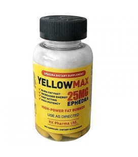 Yellow Max 25 mg Ephedra (100 capsules)
