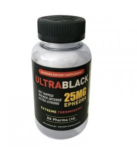 Ultra Black 25 mg Ephedra (100 capsules)