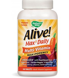 Way Vivant Max Potency Multi-Vitamin Tablets, 180 Nombre de Nature