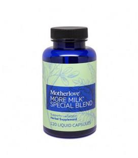 Motherlove plus de lait Herbal Blend Breastfeeding Supplément spécial avec la Rue de chèvre soutient Lactation, 120 Liquid Capsu