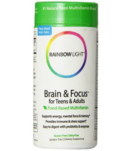 Rainbow Light Cerveau et Focus multivitamines, 90 comprimés
