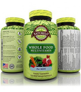 NATURELO Whole Food multivitamines pour les hommes - Number 1 Classé - Natural Vitamines, minéraux, antioxydants, extraits organ