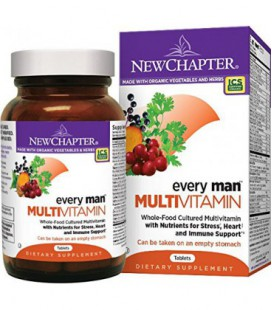 New Chapter Every Man, multivitamines fermentés homme avec Probiotiques + Sélénium + Vitamines B + vitamine D3 + organique non-O