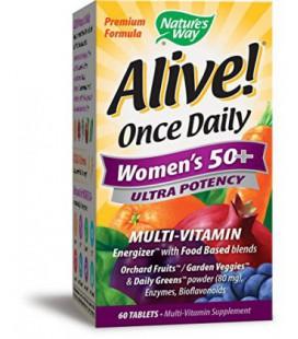 Way Alive Nature! Une fois 50+ Ultra Potency Multi-Vitamin quotidienne des femmes, 60 comprimés