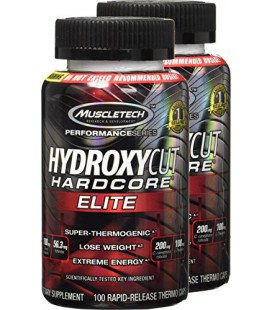 Hydroxycut Hardcore Elite 100 capsules, Pack de 2 boites