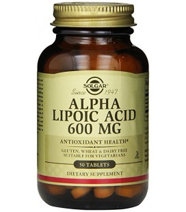 Acide Alpha Lipoique 600 mg (50 tablettes) Solgar